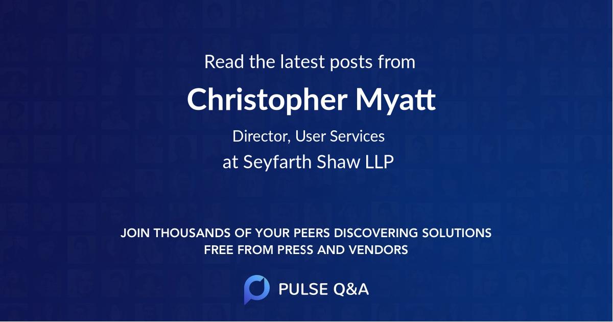 Christopher Myatt