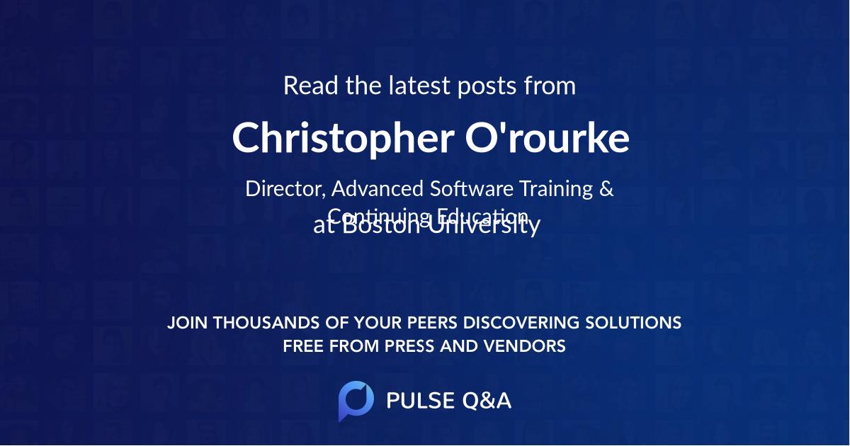 Christopher O'rourke