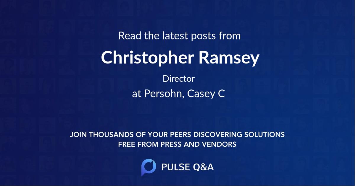 Christopher Ramsey
