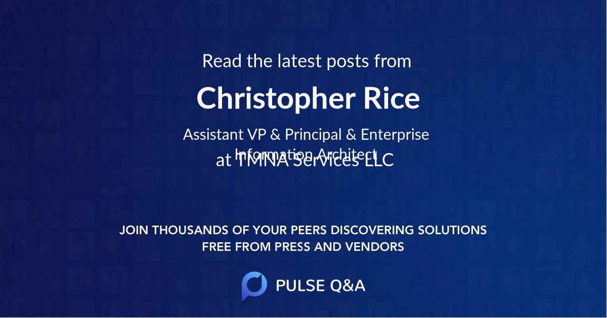 Christopher Rice