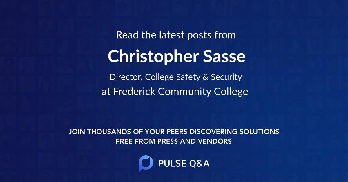 Christopher Sasse