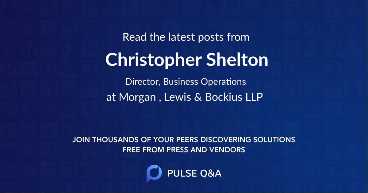 Christopher Shelton