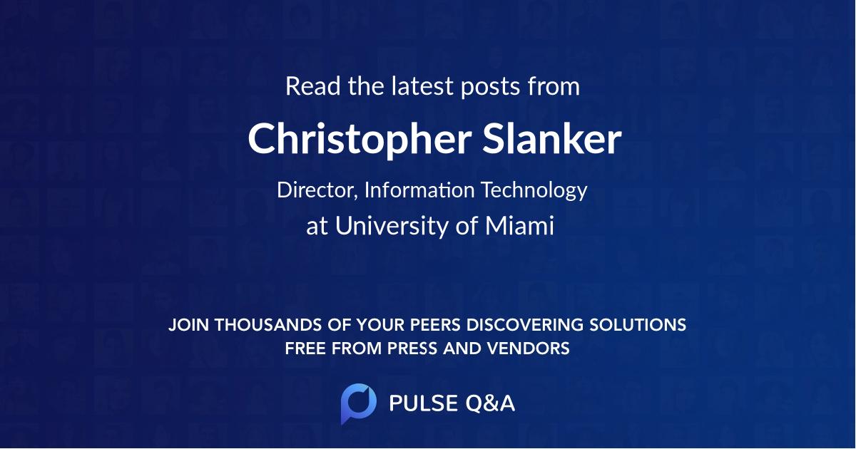 Christopher Slanker