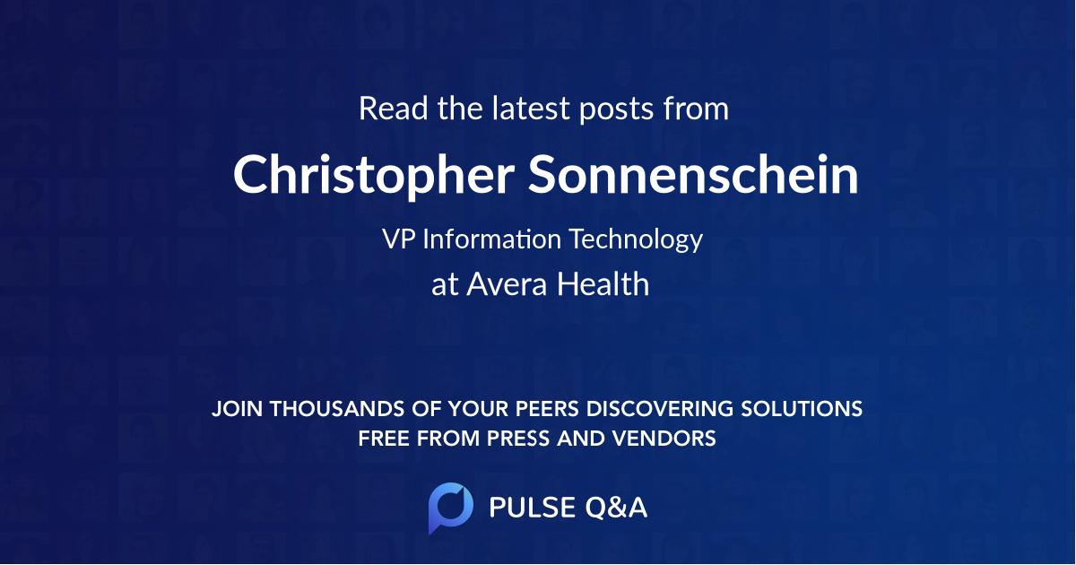 Christopher Sonnenschein