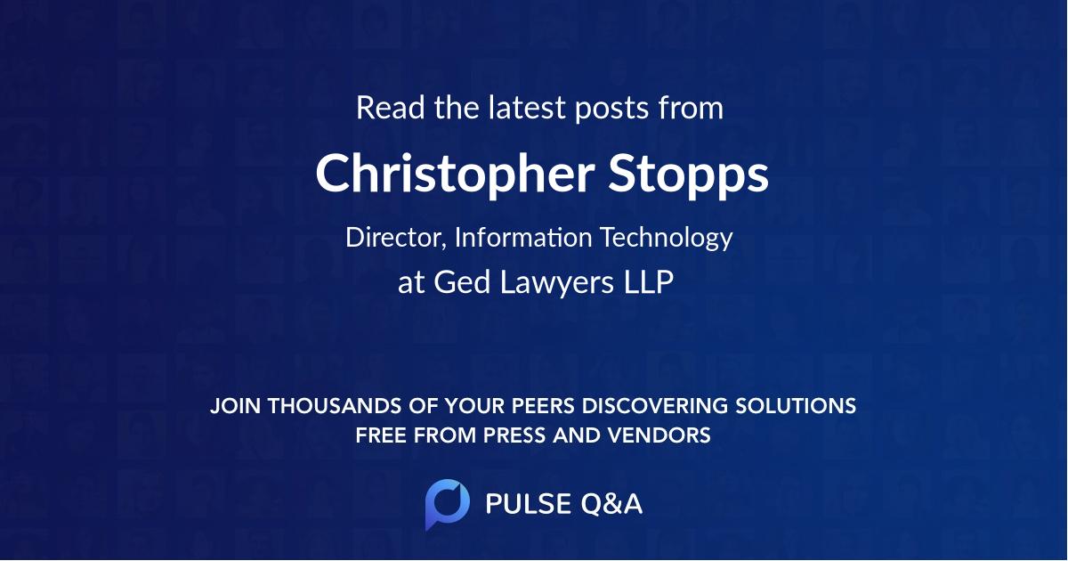 Christopher Stopps