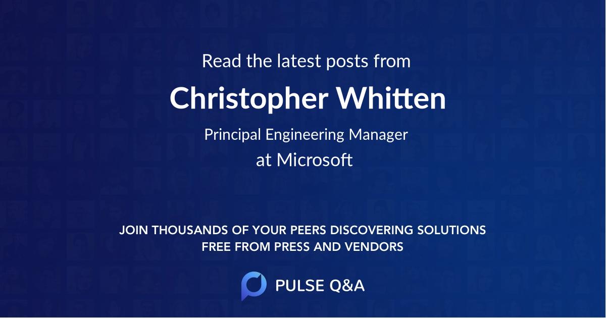 Christopher Whitten