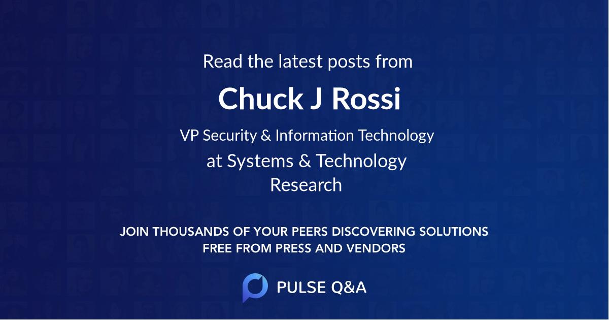 Chuck J. Rossi