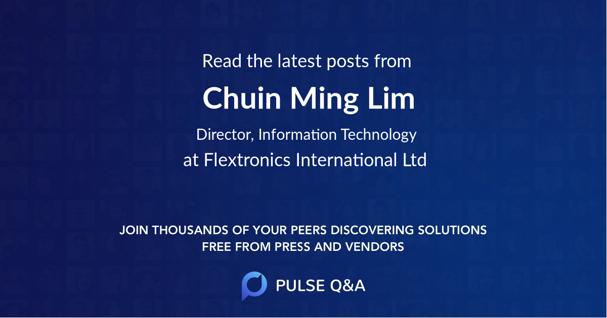 Chuin Ming Lim