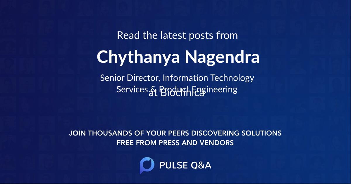 Chythanya Nagendra