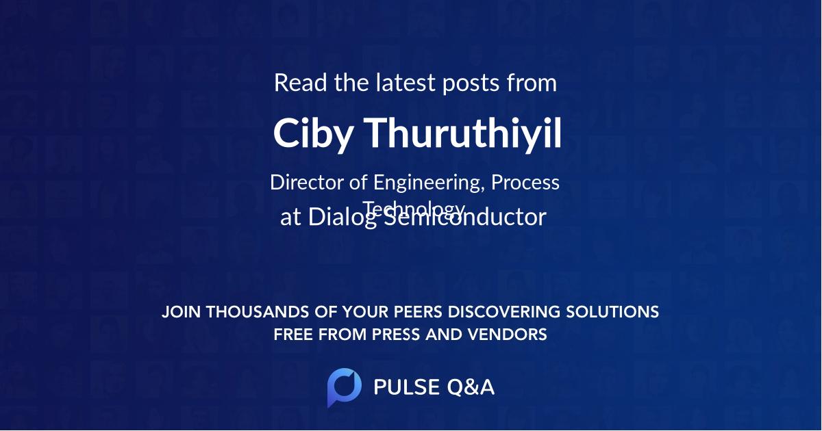 Ciby Thuruthiyil