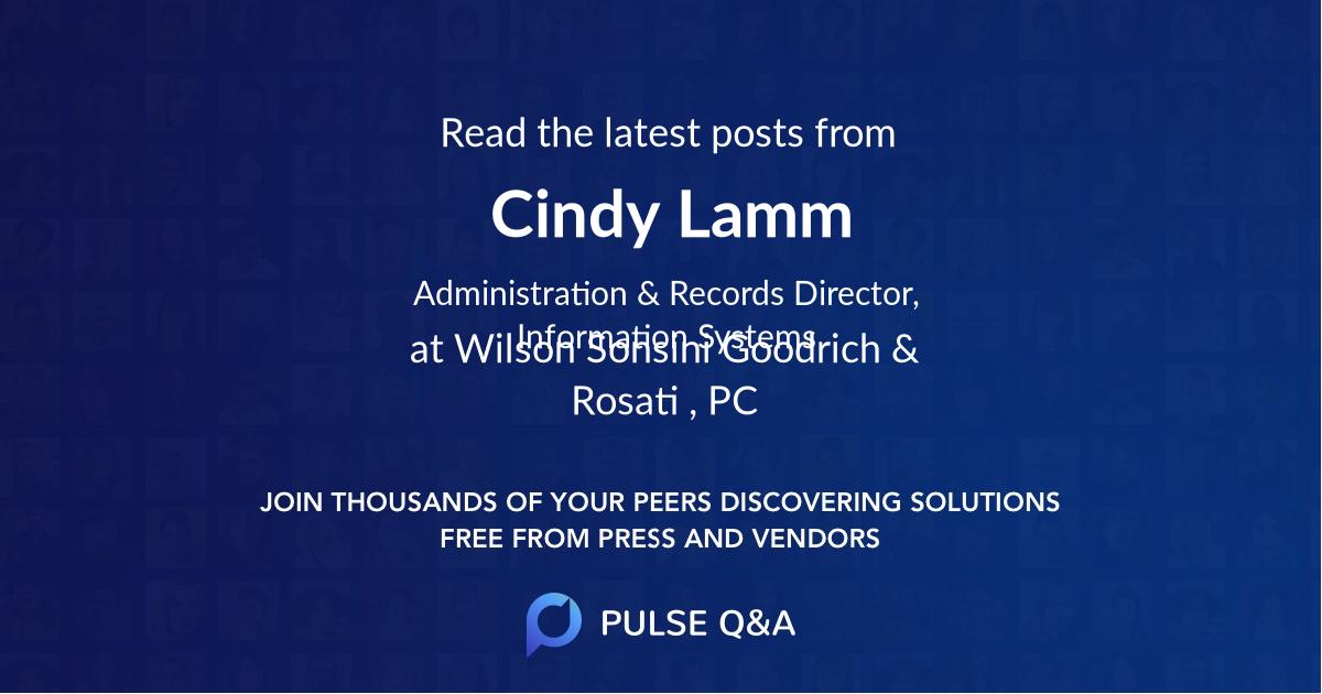 Cindy Lamm