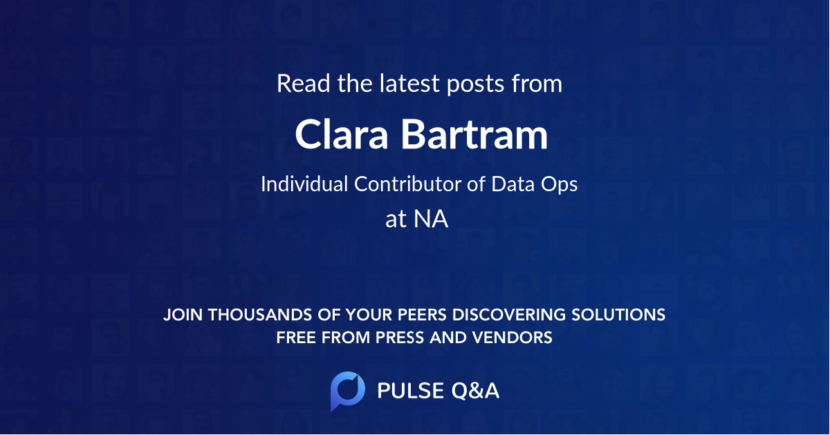 Clara Bartram