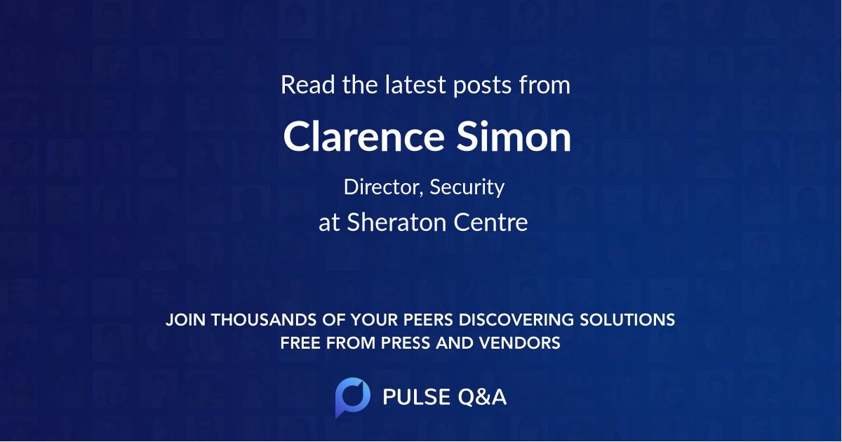 Clarence Simon