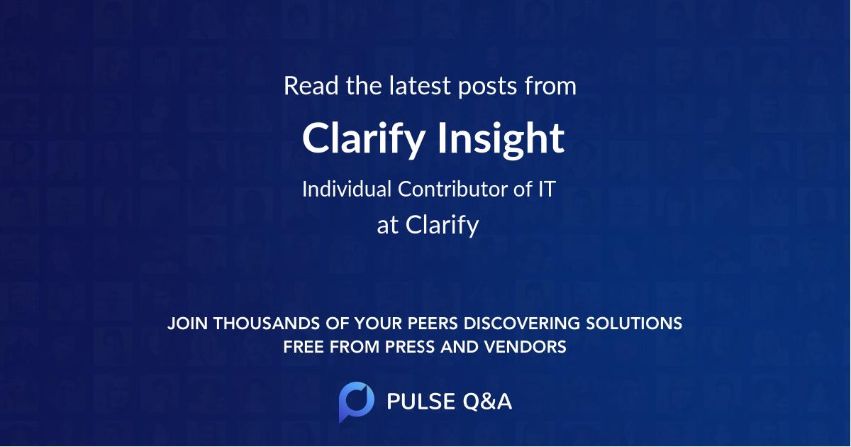 Clarify Insight