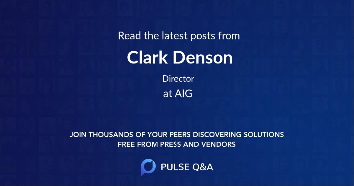 Clark Denson