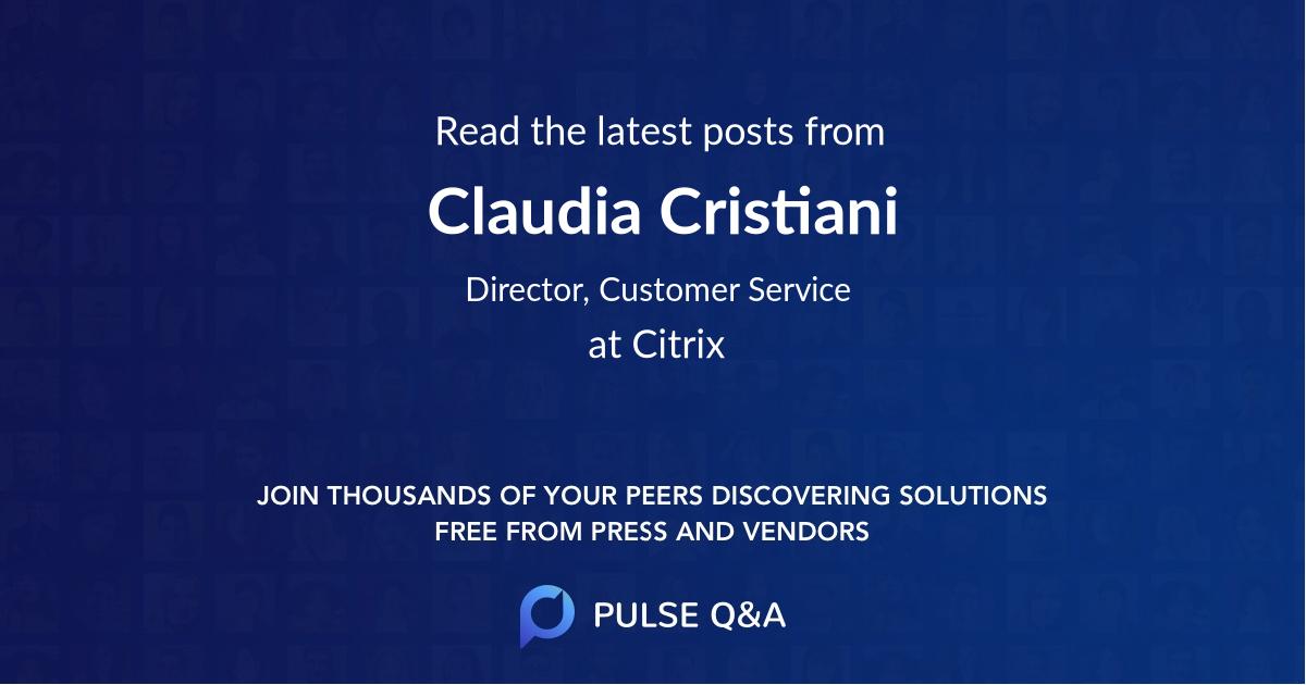 Claudia Cristiani