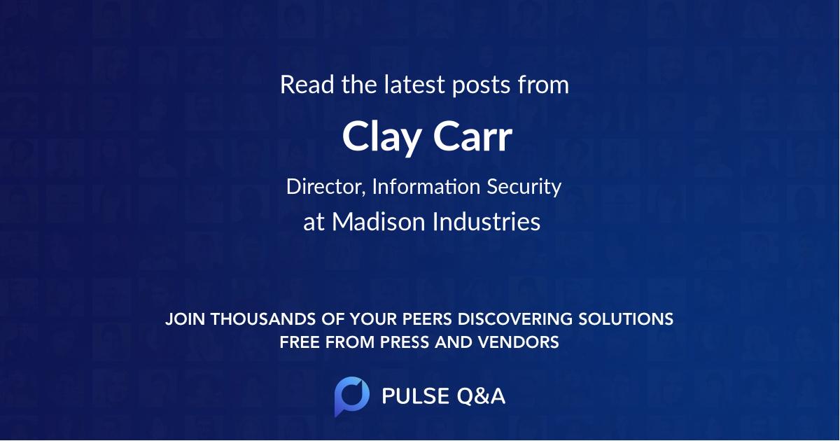 Clay Carr