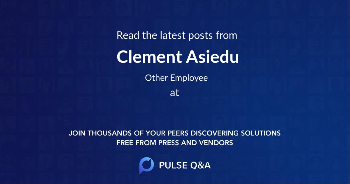 Clement Asiedu