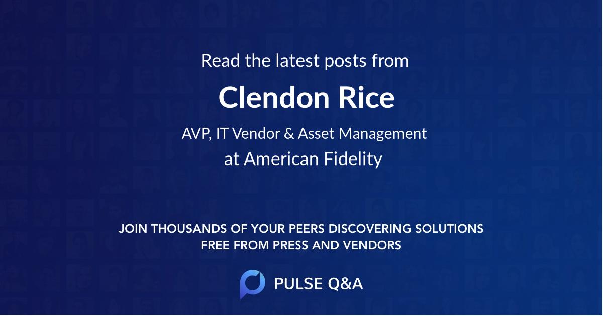 Clendon Rice