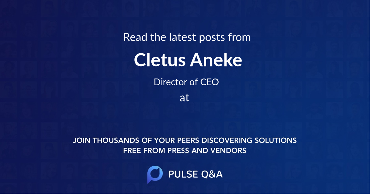 Cletus Aneke