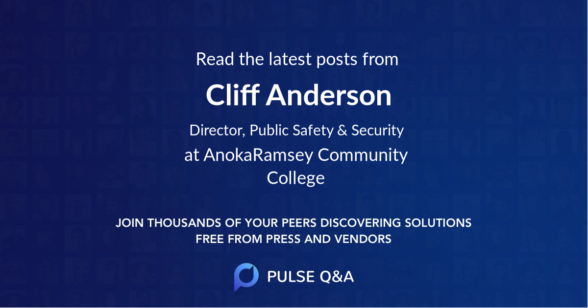 Cliff Anderson
