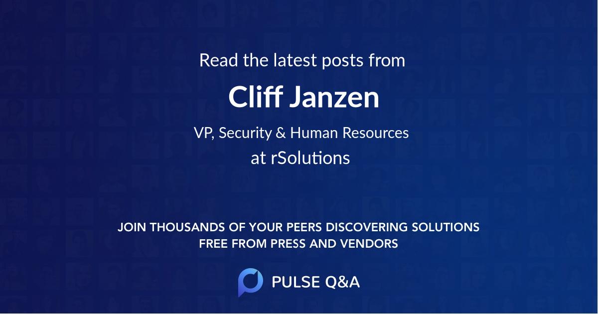 Cliff Janzen