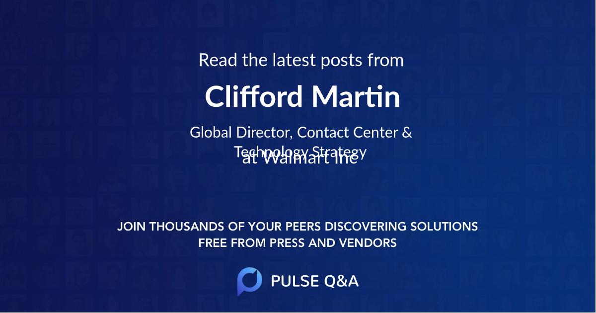 Clifford Martin