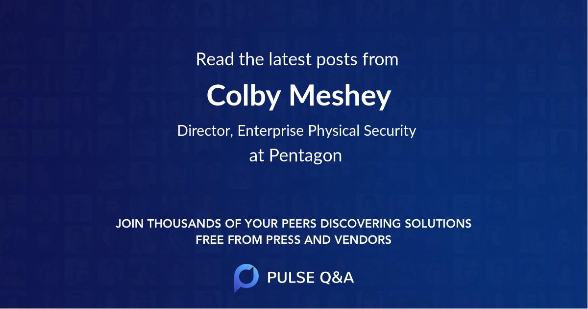 Colby Meshey