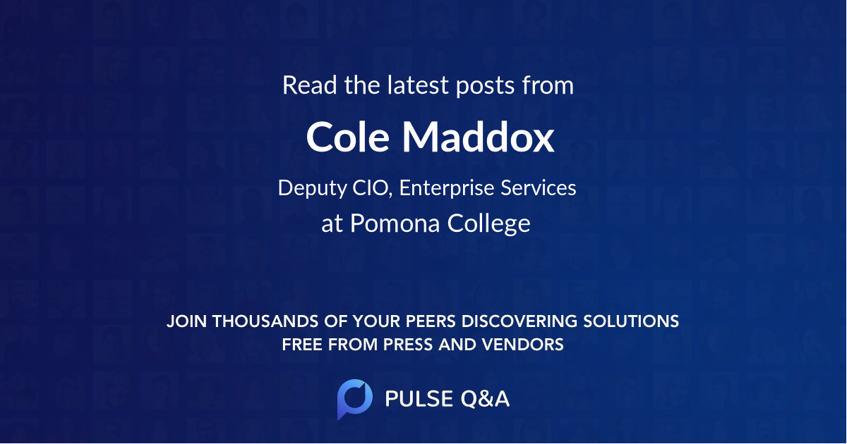 Cole Maddox
