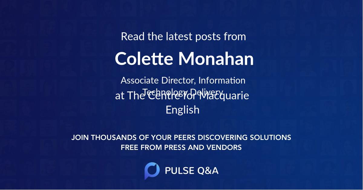 Colette Monahan