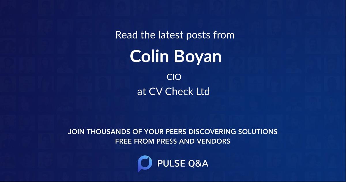 Colin Boyan