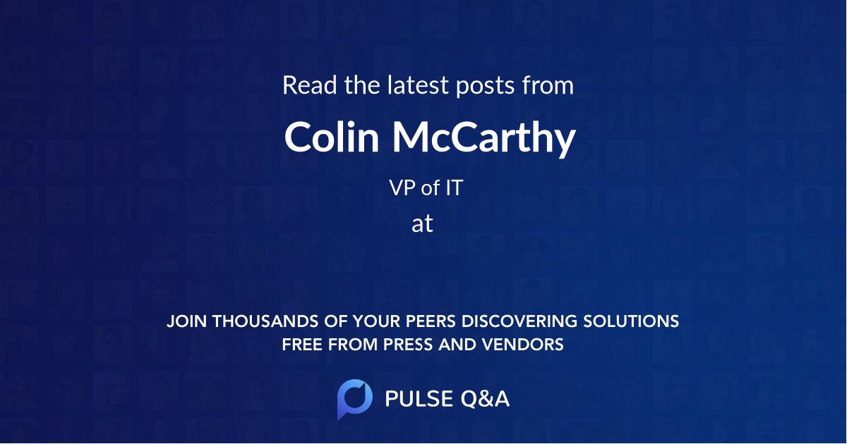 Colin McCarthy