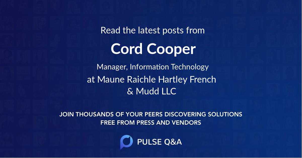 Cord Cooper