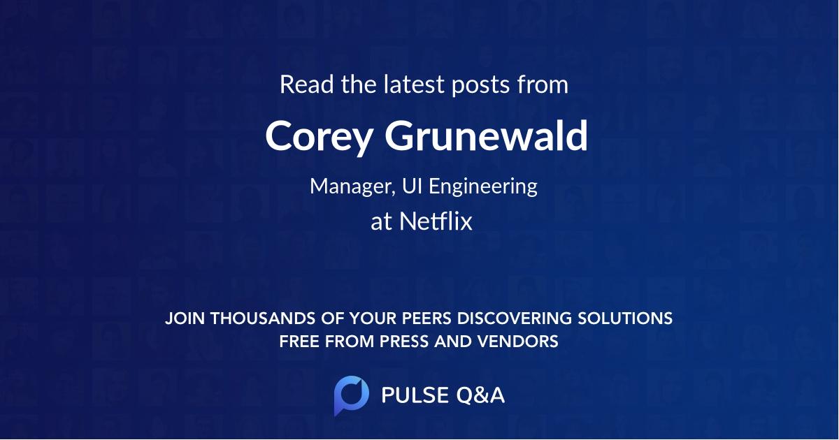 Corey Grunewald