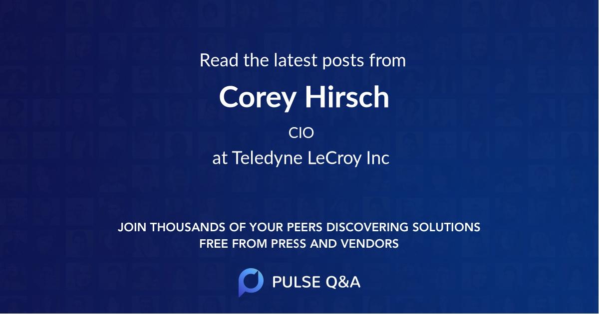 Corey Hirsch