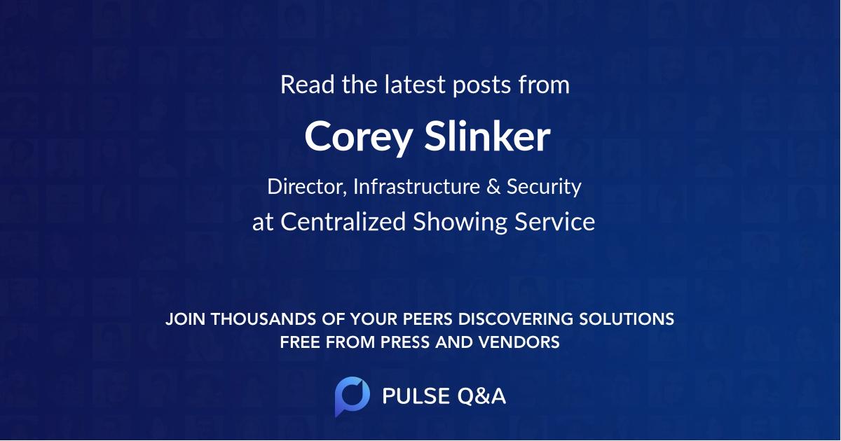 Corey Slinker