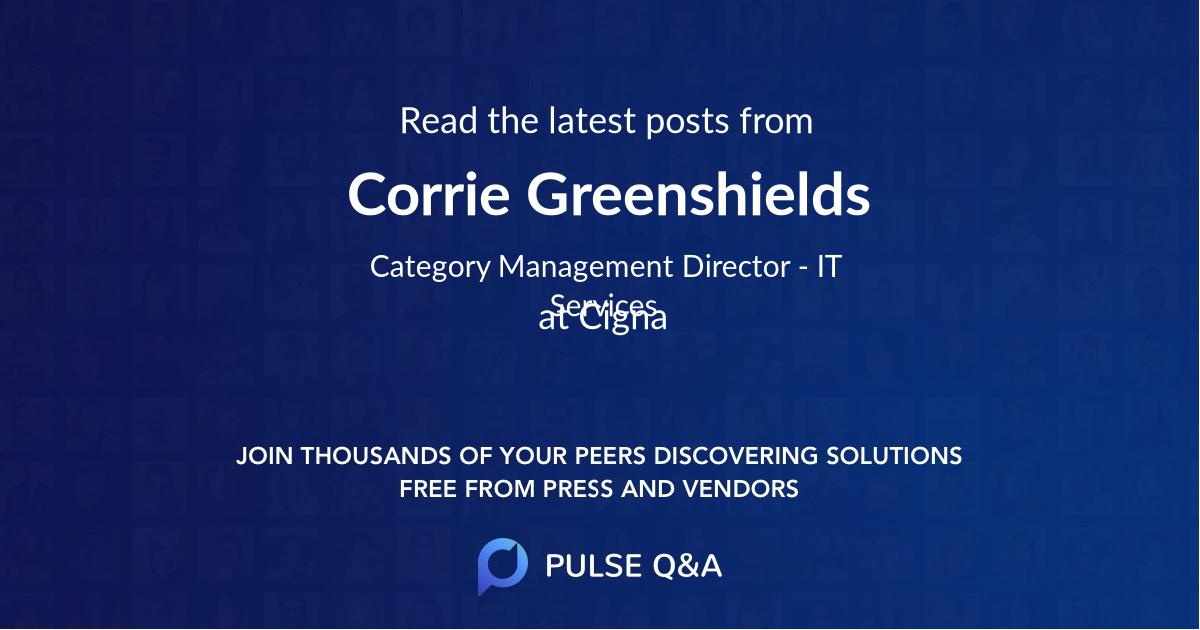 Corrie Greenshields