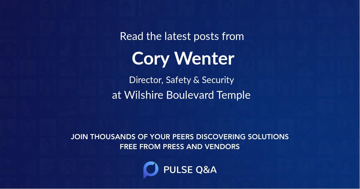 Cory Wenter