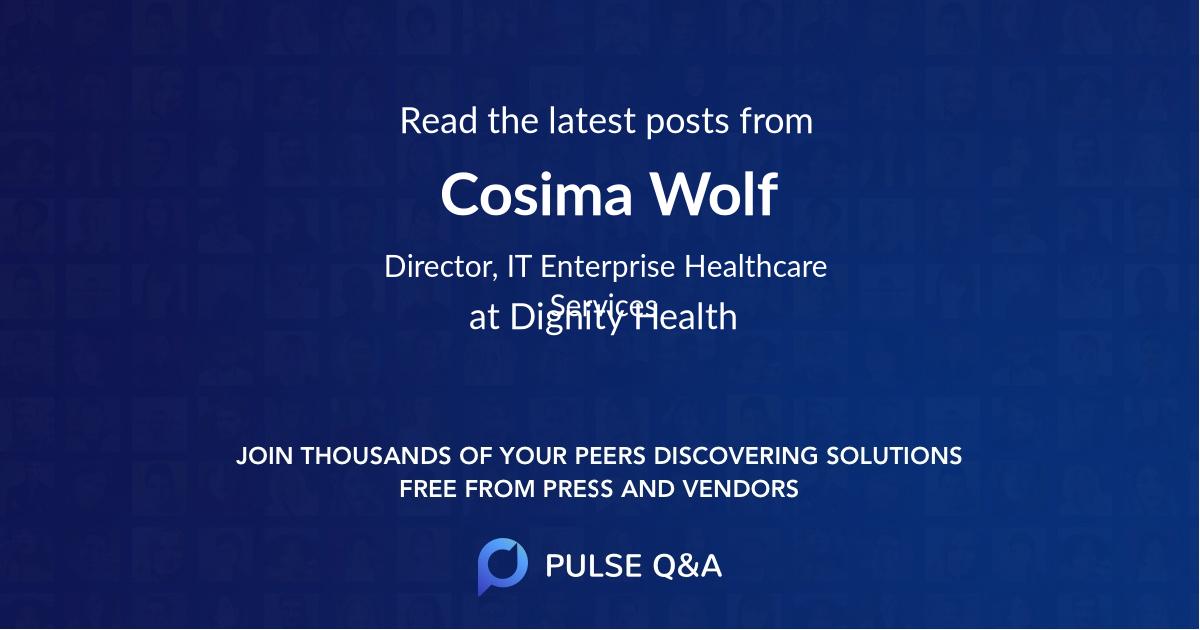 Cosima Wolf