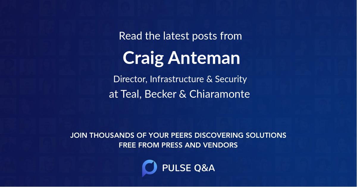 Craig Anteman