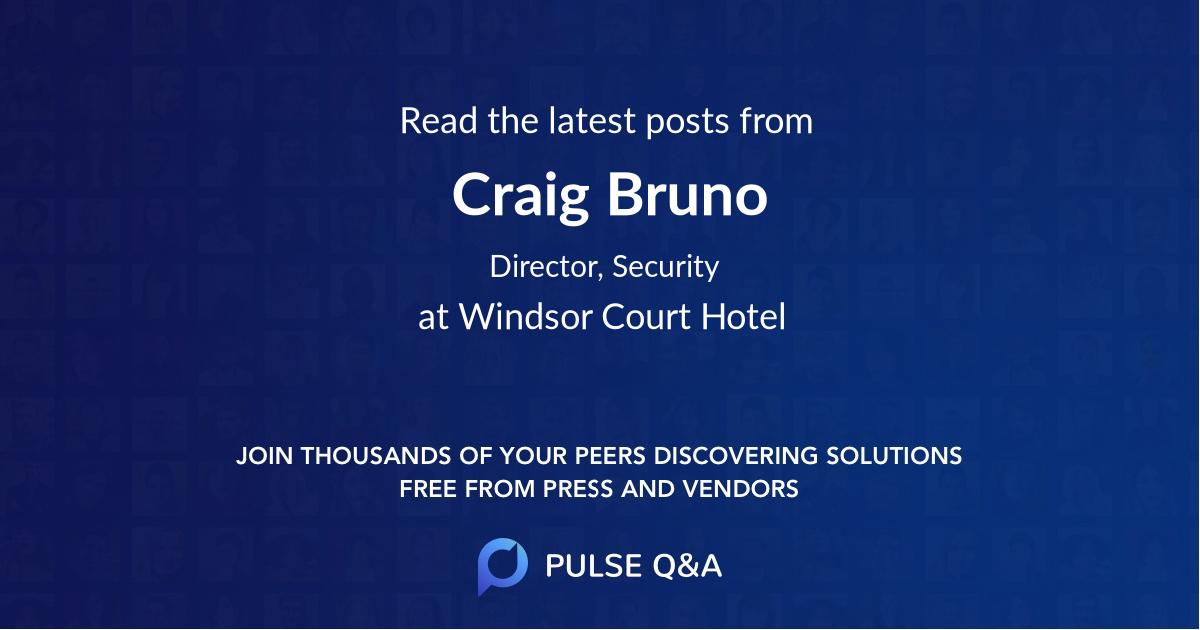 Craig Bruno