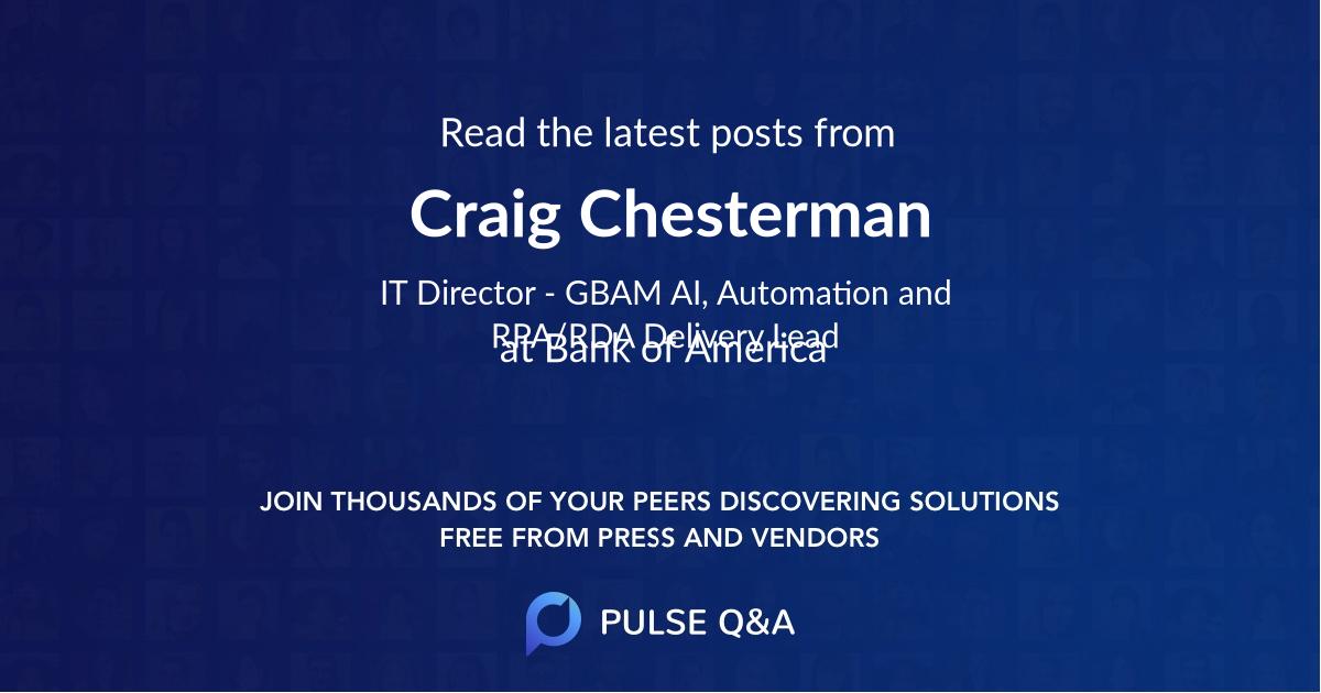 Craig Chesterman