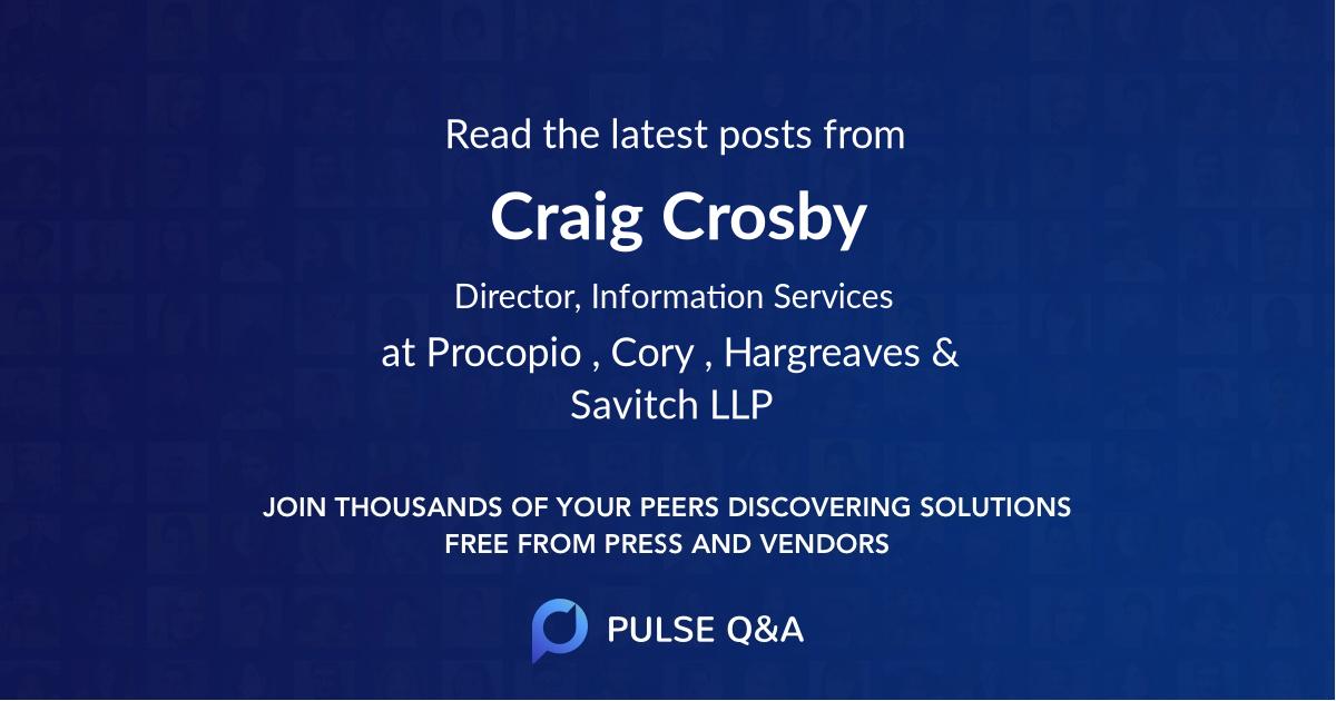 Craig Crosby