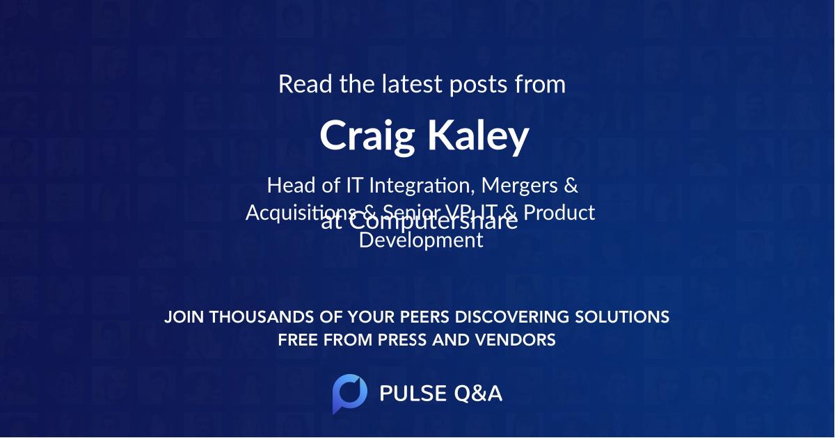 Craig Kaley