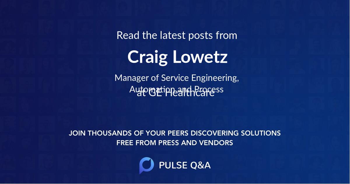Craig Lowetz