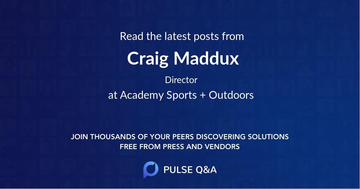 Craig Maddux