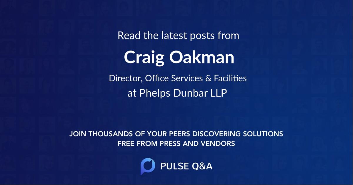 Craig Oakman