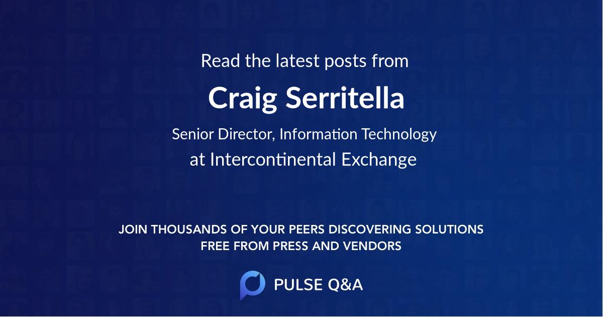 Craig Serritella
