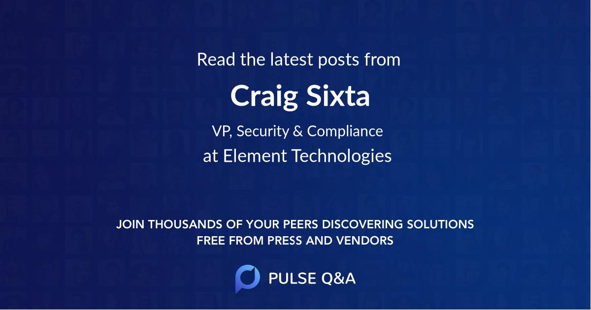 Craig Sixta