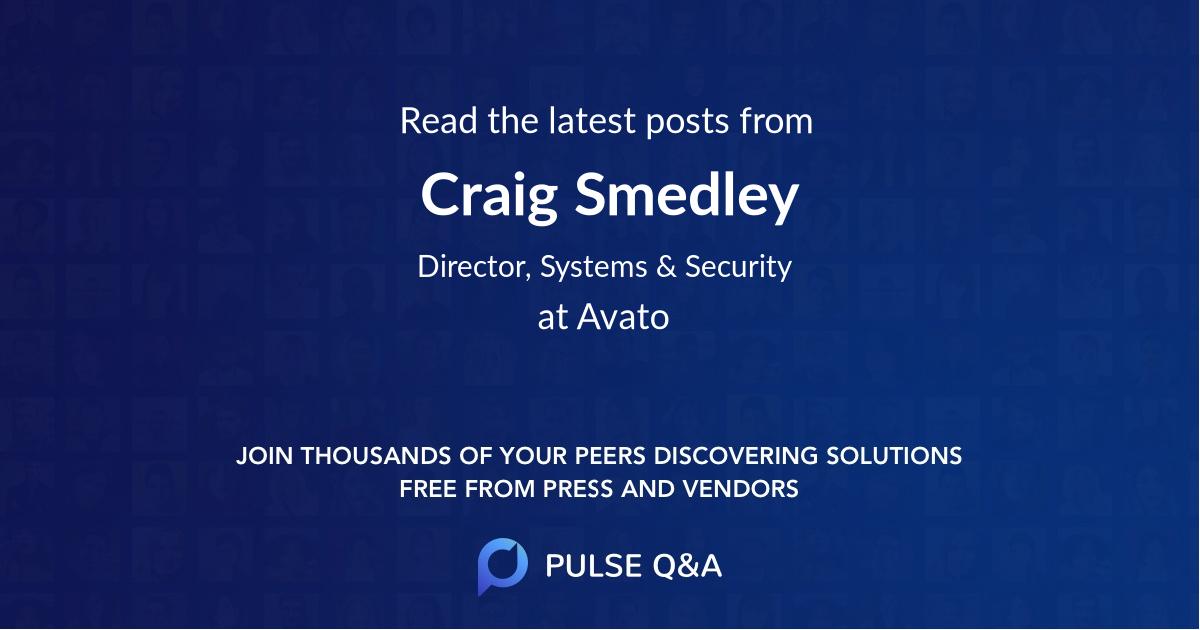 Craig Smedley